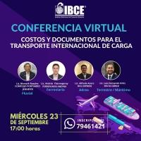¡HOY A LAS 17:00 PM! Conferencia Virtual: Costos y Documentos para el Transporte Internacional de Carga