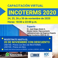 MASTERCLASS EN INCOTERMS 2020 - Del 24 al 30 de noviembre