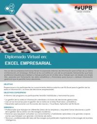 UPB Diplomado Virtual en Excel Empresarial