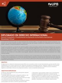 UPB Diplomado en Derecho Internacional (inicio 27 de noviembre)