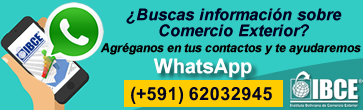 WhatsApp IBCE: +591 62032945