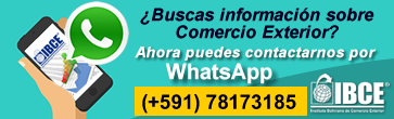 WhatsApp IBCE: +591 78173185