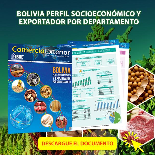 ¡DESCARGA GRATIS!  Bolivia: Perfil Socioeconómico y Exportador por Departamento