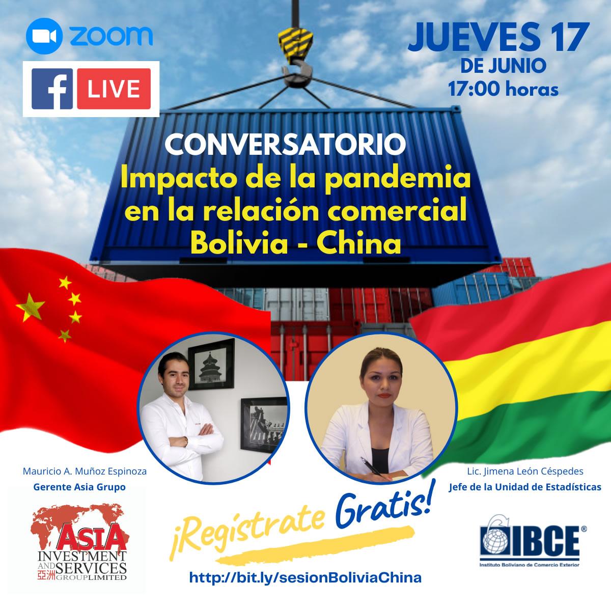 Conversatorio: Impacto de la pandemia en la relación comercial Bolivia-China