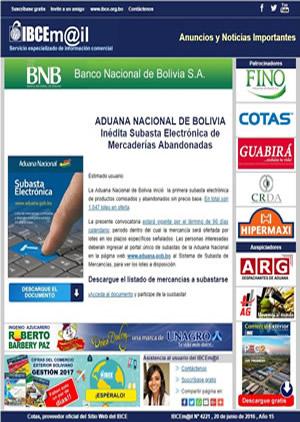 Boletín IBCEmail - Noticias importantes
