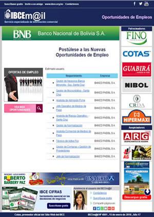 Boletín IBCEmail - Oportunidades de Empleo