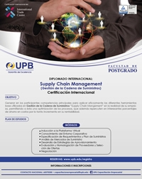 UPB: Diplomado Virtual Supply Chain Management