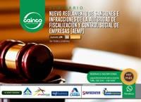Seminario: Nuevo Reglamento de Sanciones e Infracciones de la Autoridad de Fiscalización y Control Social de Empresas (AEMP)
