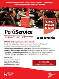 Feria Especializada en Servicios - PERÚ SERVICE SUMMIT 2013