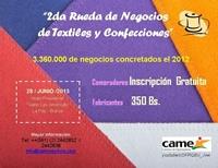 Participe de la 2da Rueda de Negocios para el Sector Textil y Confecciones