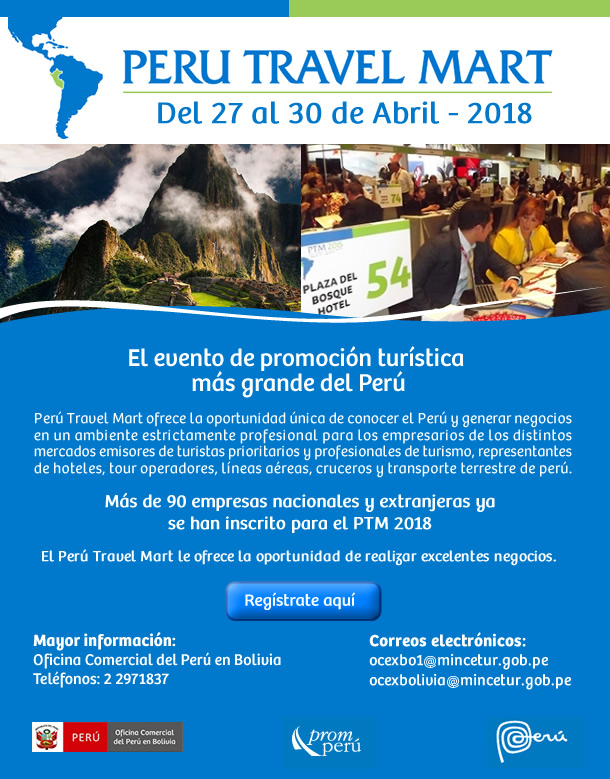 Perú Travel Mart - Del 27 al 30 de abril de 2018