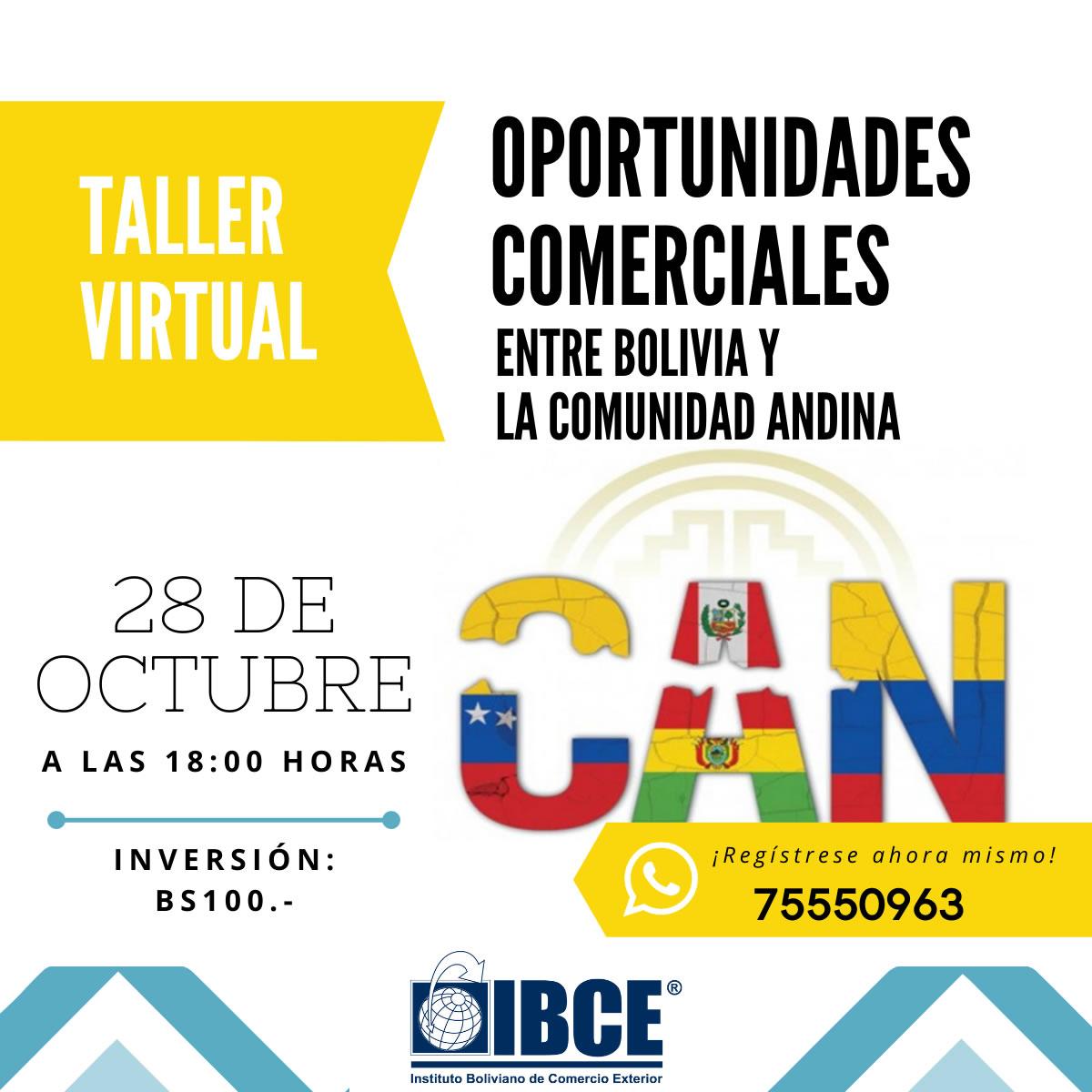 Taller Virtual: Oportunidades Comerciales entre Bolivia la Comunidad Andina