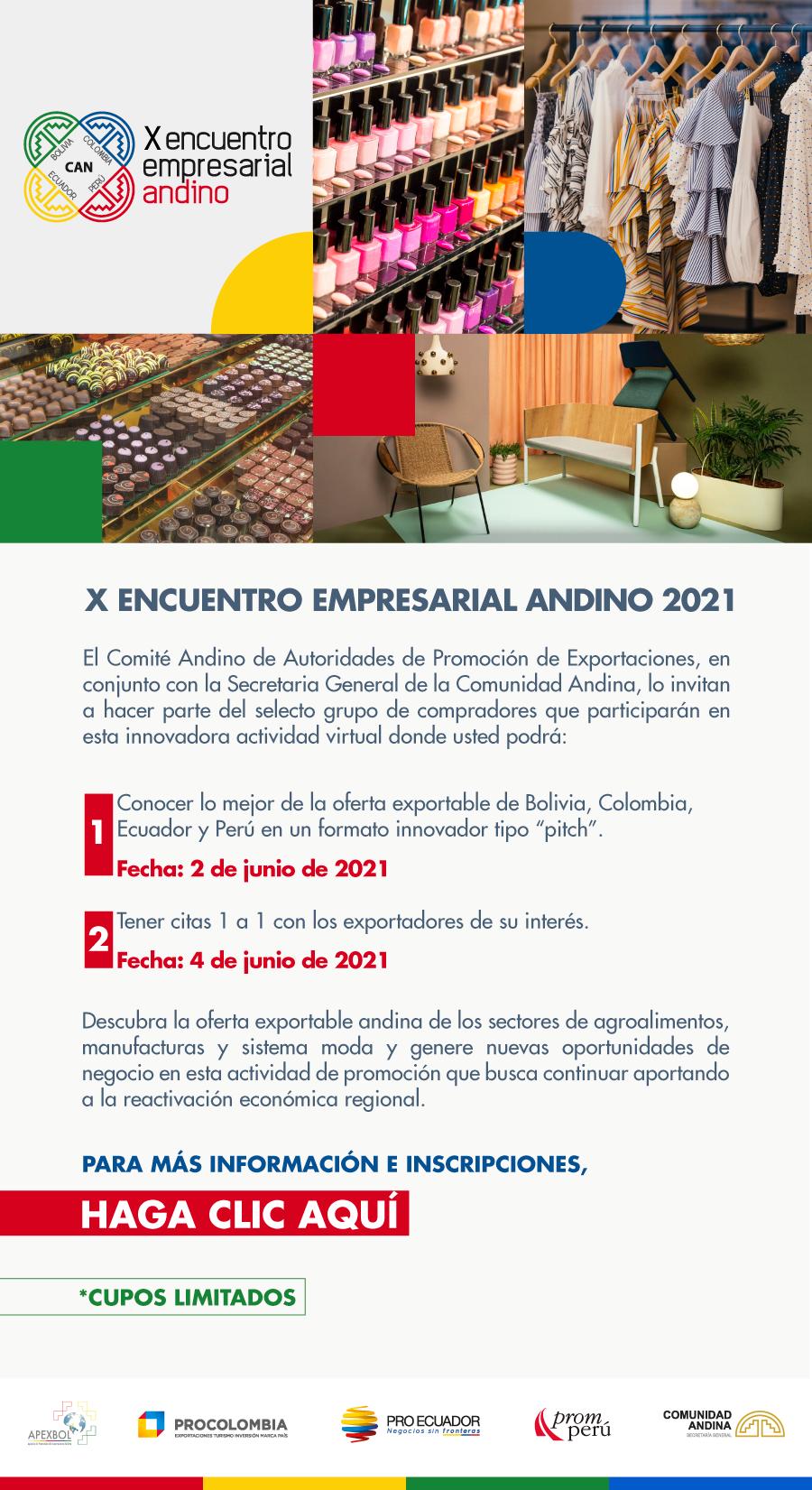 X Encuentro Empresarial Andino 2021 - 2 de junio de 2021