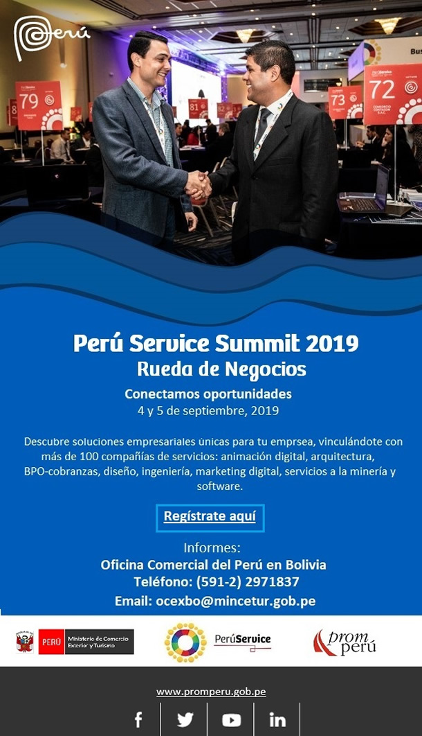 Perú Service Summit 2019 - Rueda de Negocios