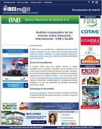 Análisis comparativo de las normas sobre transporte internacional terrestre - CAN y ALADI