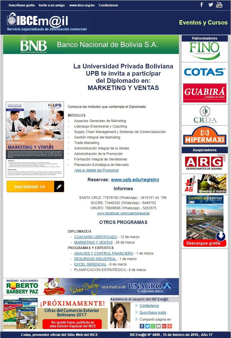 UPB - Diplomado en Marketing y Ventas