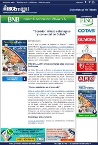 Ecuador: Aliado estratégico y comercial de Bolivia
