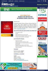¡Inscríbete hoy! Rueda de Negocios Internacional Bolivia - CAINCO