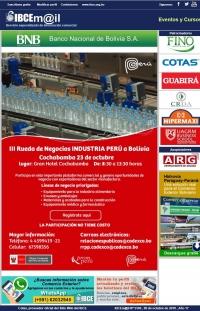 Rueda de Negocios Industria Perú a Bolivia - Cochabamba 23 de octubre