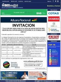 INVITACIÓN: Taller de implementación de requisitos del Programa OEA / Aduana Nacional