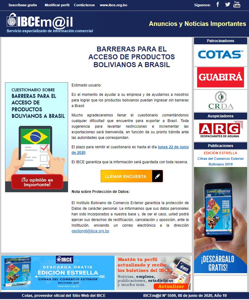 BARRERAS PARA EL ACCESO DE PRODUCTOS BOLIVIANOS A BRASIL