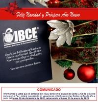 IBCE les desea una Feliz Navidad y un Próspero Año Nuevo