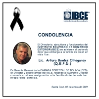 CONDOLENCIA IBCE - Lic. Arturo Bowles Olhagaray (QEPD)