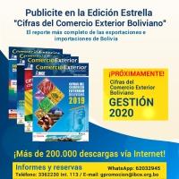 ¡PRÓXIMAMENTE! Cifras del Comercio Exterior Boliviano 2020