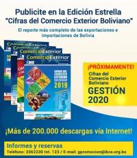 Publicite en la Edición Estrella: Cifras del Comercio Exterior Boliviano Gestión 2020