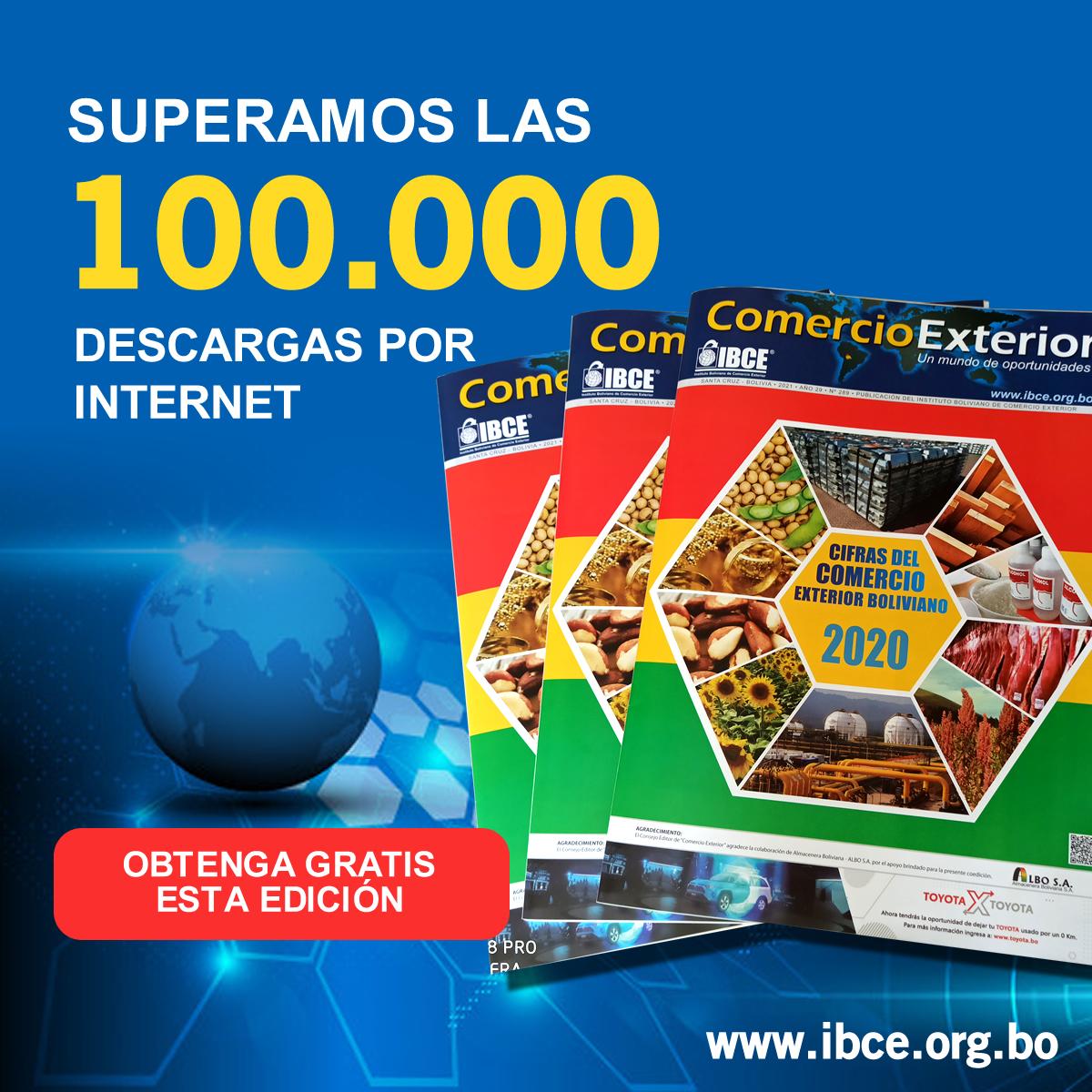 ¡Más de 100.000 descargas por Internet! ¿Ya descargaste esta edición especial del IBCE?