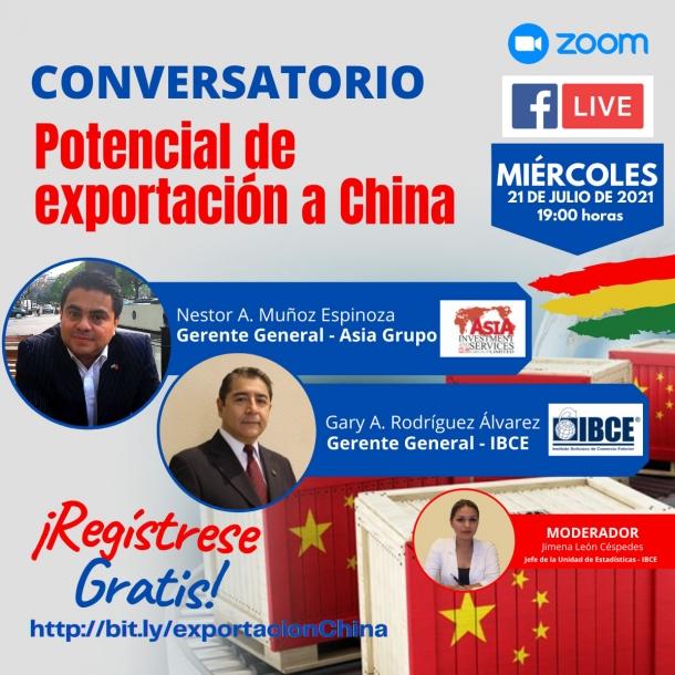 CONVERSATORIO: Potencial de Exportación a China