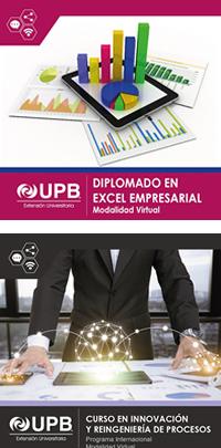 UPB Diplomado en Excel Empresarial y Curso en Innovación (inicio confirmado)