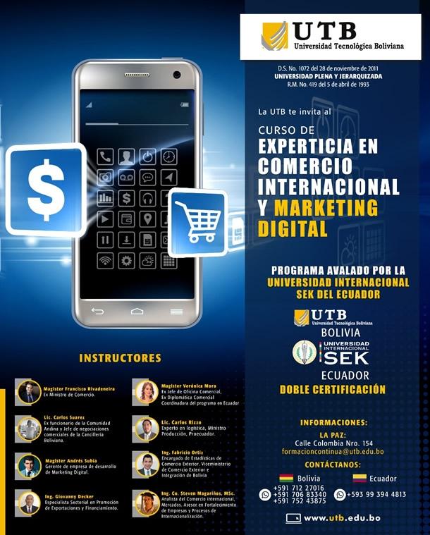 CURSO: EXPERTICIA EN COMERCIO INTERNACIONAL Y MARKETING DIGITAL