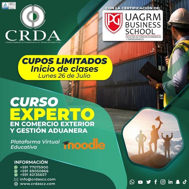 CURSO EXPERTO EN COMERCIO EXTERIOR Y GESTIÓN ADUANERA
