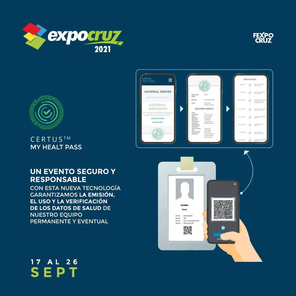 Pasaporte Sanitario MyHealth Pass CERTUS en FEXPOCRUZ
