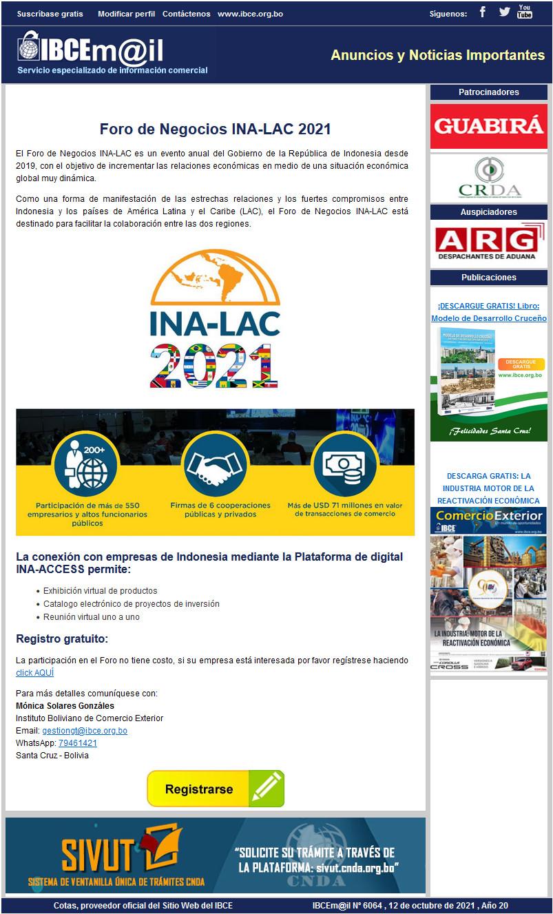 Foro de Negocios INA-LAC 2021