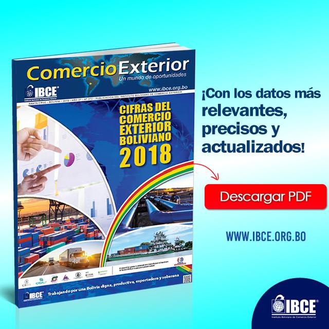 Descarga gratis la Edición Estrella 'Cifras del Comercio Exterior Boliviano 2018'