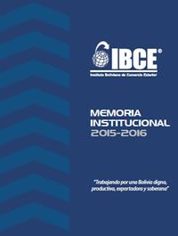Memoria Institucional del IBCE 2015–2016