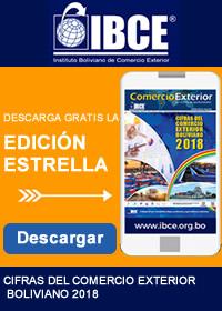 banner de Cifras del comercio exterior boliviano 2018Encuentre información sobre importación y exportación actualizada de Bolivia en Comex.bo