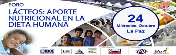 INVITACIÓN A FORO BENEFICIOS DEL CONSUMO DE LÁCTEOS EN BOLIVIA